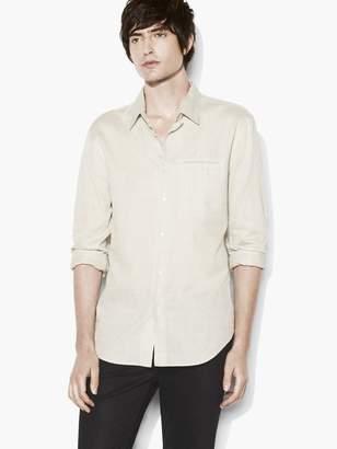 John Varvatos Grid Print Shirt