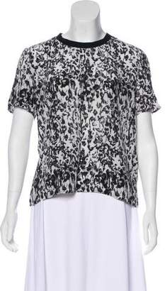 The Kooples Sport Printed Silk Top