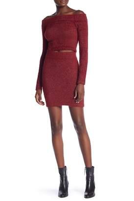 Wow Couture Metallic Shirt & Skirt Set
