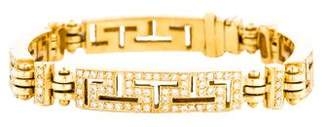 18K Diamond Greek Key Bracelet