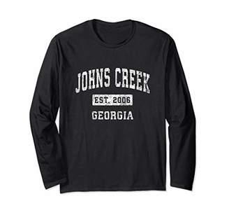 Johns Creek Georgia GA Vintage Established Sports Design Long Sleeve T-Shirt