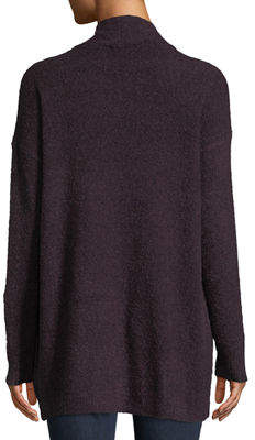 Lilla P Boucle-Knit Open Front Cardigan