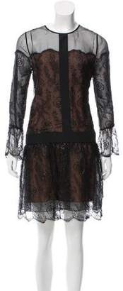 Chloé Lace-Trimmed Mini Dress
