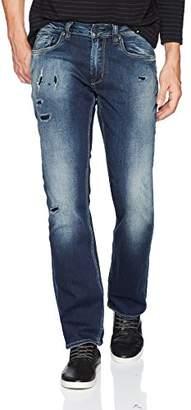 Buffalo David Bitton Men's Evan-x Slim Straight Fit Distressed and Sanded Denim Pant
