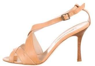 Manolo Blahnik Leather High-Heel Sandals w/ Tags