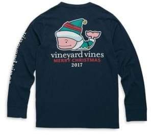 Vineyard Vines Toddler's, Little Boy's& Boy's Elf Whale Cotton Tee