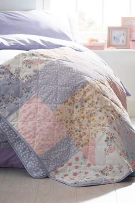 Next Pretty Patchwork Quilted Throw - Pink