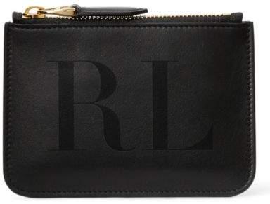 Ralph Lauren Luxe Calf Mini Zip Pouch Black One Size