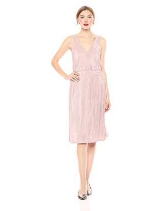 Rachel Roy Women's Sleeveless Metallic Pleated Knit Midi Dress