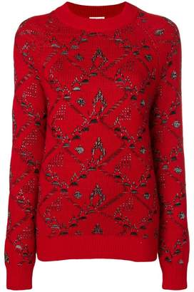 Saint Laurent motif knit jacquard jumper