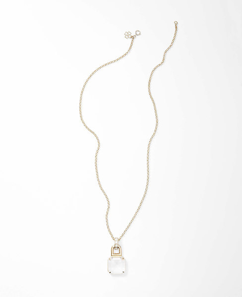 Ann Taylor Luster Lock Pendant Necklace