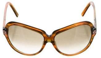 Fendi Floral Print Gradient Sunglasses