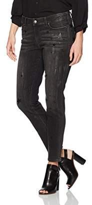 Denim Crush Women's Glistening Star Print Skinny Jean 4