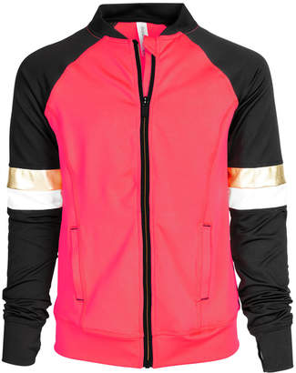 Macy's Ideology Big Girls Plus Colorblocked Zip-Up Active Jacket, Created for
