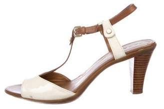 Tahari Patent Leather T-Strap Sandals