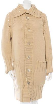 Yohji Yamamoto Wool Long-Line Cardigan $155 thestylecure.com