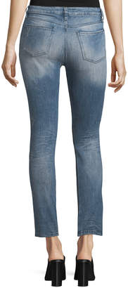 Neiman Marcus Brockenbow Lily Slim Straight-Leg Cropped Jeans