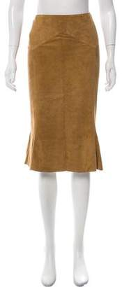 Ralph Lauren Flared Suede Skirt w/ Tags