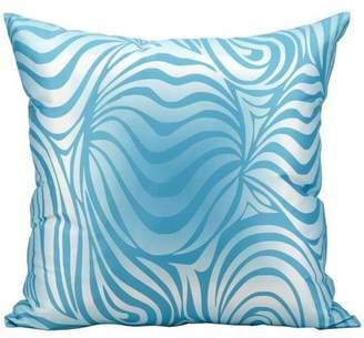 """Nourison Indoor/Outdoor Zebra Print Pillow, Turquoise, 18"""" x 18"""""""