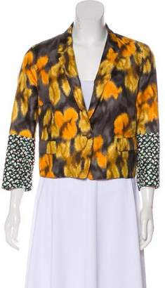 Dries Van Noten Printed Notch-Lapel Blazer