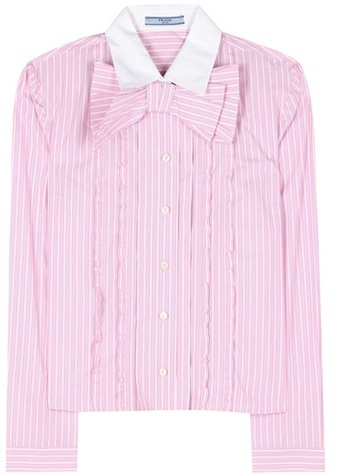 prada Prada Striped Cotton Shirt