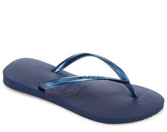 Havaianas - Navy Metallic Slim Flip Flops
