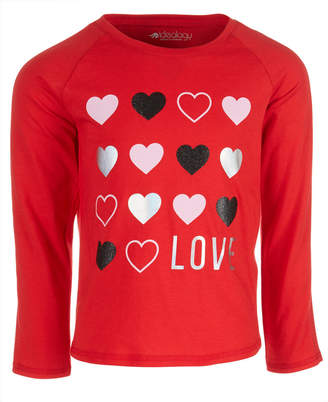 Macy's Ideology Toddler Girls Love-Print T-Shirt, Created for