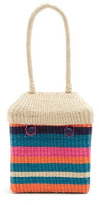 Sophie Anderson - Serella Woven Toquilla Straw Box Bag - Womens - Multi