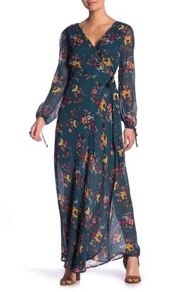 Band of Gypsies Jacey Wrap Printed Maxi Dress