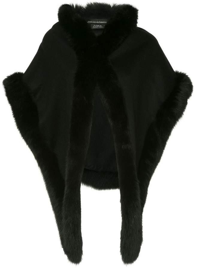 fur trimmed cape