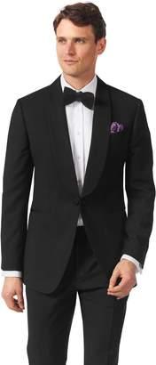 Charles Tyrwhitt Black Extra Slim Fit Shawl Collar Dinner Suit Wool Jacket Size 36
