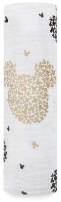 Aden Anais aden + anais Disney(R) Mickey's 90th Muslin Swaddling Cloth