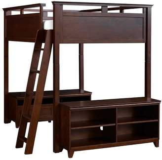 Pottery Barn Teen Hton Loft Bed Set, Full, Dark Espresso