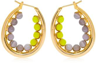 Anton Heunis Color Block Oval Hoop Earrings