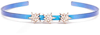 Diane Kordas Cosmos Diamond Triple Explosion Titanium Bracelet, Blue