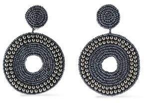 Kenneth Jay Lane Gunmetal-Tone Bead And Crystal Earrings