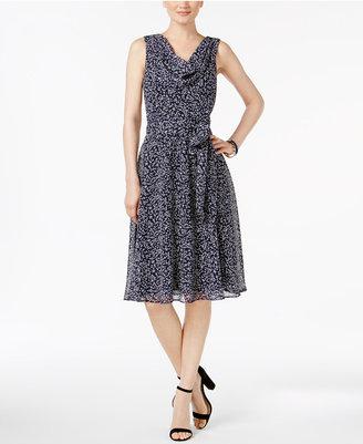 Jessica Howard Printed Draped Dress $89 thestylecure.com