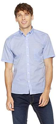Clifton Heritage Men's Slim Fit Short-Sleeve Button-Down Casual Stripe Shirt XL