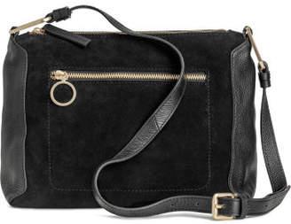 H&M Suede and Leather Shoulder Bag - Black