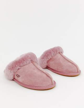 301b9b362 UGG Scuffette II Dark Pink Suede Slippers