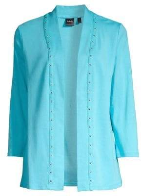 Rafaella Studded Trim Cardigan