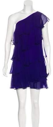 Halston Silk Ruffled Dress