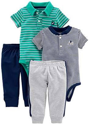 Carter's Simple Joys by Baby Boys' 4-Piece Bodysuit and Pant Set
