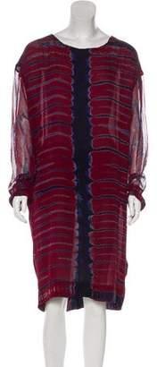 Raquel Allegra Silk Tie-Dye Midi Dress