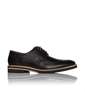 Ted Baker Pebbled Leather Derby W/ Micro Contrast Sole