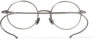 Native Sons Seeger Round-Frame Silver-Tone Optical Glasses
