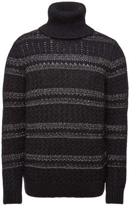 Saint Laurent Turtleneck Pullover with Wool, Mohair and Alpaca