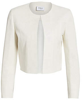 Akris Punto Women's Leather Perforated Cropped Jacket