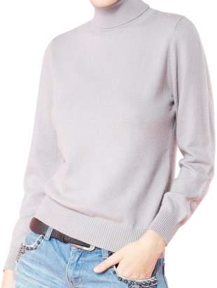 LongMing Women's 100% Cashmere Slim-fit Long Sleeve Winter Turtleneck Sweater Pullover Tops