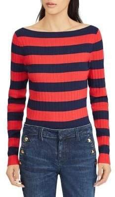 Lauren Ralph Lauren Striped Boatneck Sweater